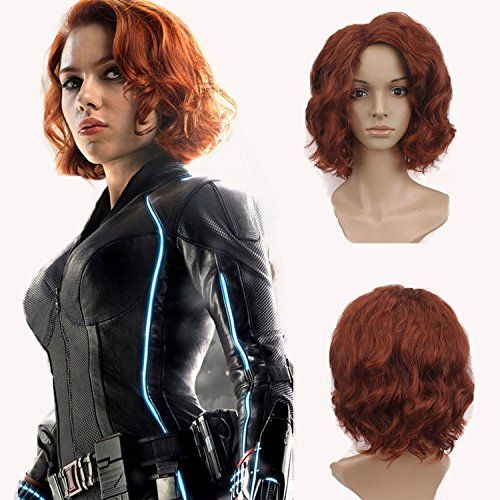 Auburn netgo Short Auburn Curly Hair Wigs for Women Heat Resistant Fiber 14 inches Wavy Bob Wigs for Daily Cosplay Party Nightclub Costume