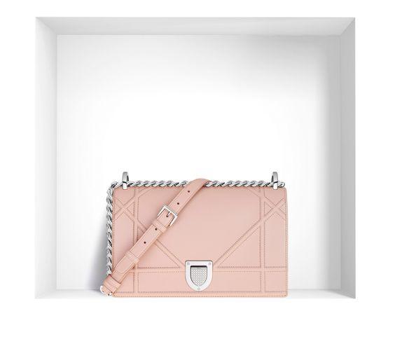 """""""diorama"""" bag in nude lambskin - Dior"""