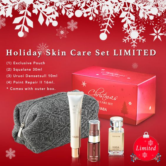An intensive moisturizing kit that powerfully hydrates dry skin.  Comes with Squalane and two kinds of special treatment serum, Uruoi DensetsuⅡand Point RepairⅡ; everything the skin needs for superior nourishment and moisturization. Comes with an exclusive pouch for easy carrying