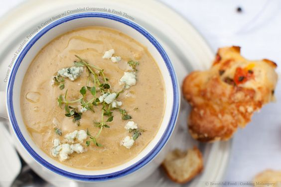 Carrot-Thyme Soup With Cream Recipe — Dishmaps