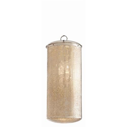 Webber Perforated Polished Nickel Pendant by Arteriors.
