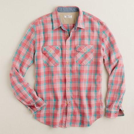 Mens Pink Flannel Shirt