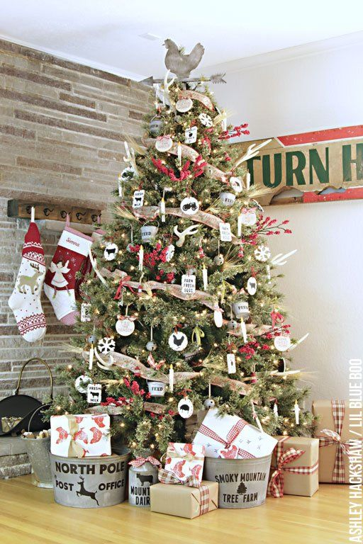 Handmade Rustic Farmhouse Christmas Ornaments Ashley Hackshaw Lil Blue Boo Farmhouse Christmas Ornaments Christmas Tree Themes Vintage Christmas Tree Decorations