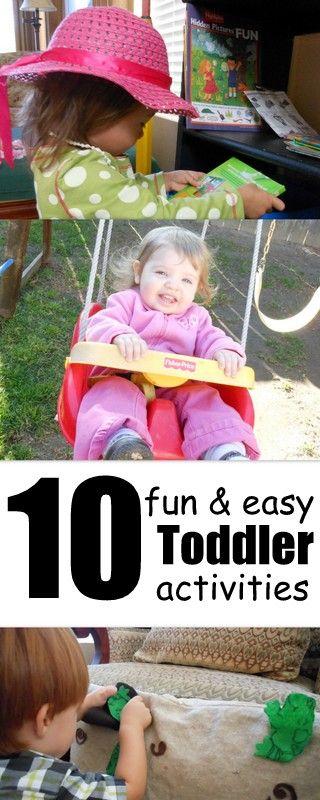 toddler activities: Baby Kids, 10 Fun, Kids Ideas, Toddler Fun, Easy Toddler, Activities Easy, Toddler Activities