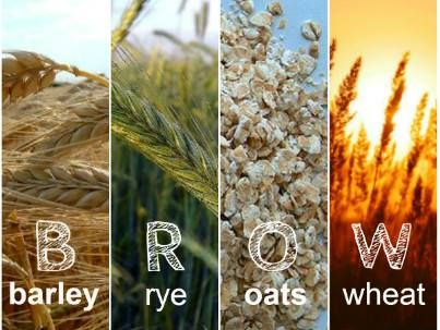Do you have Celiac Disease? Remember to avoid BROW: barley ...