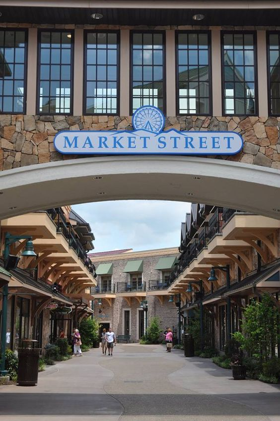 The market street at the island in pigeon forge smokies for Privately owned cabins in the smoky mountains