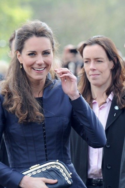 Kate Middleton and Emma Probert her security guard.
