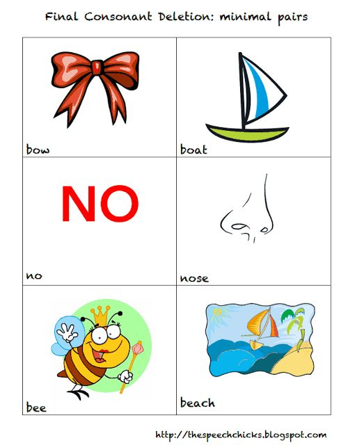 The Speech Chicks: Phonological Processes: Final Consonant Deletion
