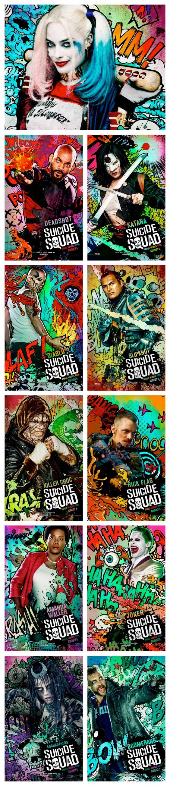 Nouveaux Posters des personnages de Suicide Squad http://www.geekilaz.com/nouveaux-posters-personnages-de-suicide-squad/