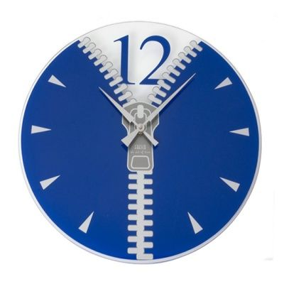Korea imports home K355 blue clock face pattern zipper creative art wall clock