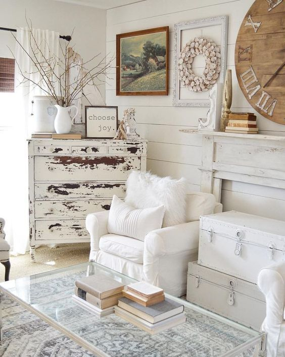 Cucina country in legno stile shabby chic. Gone Are The Days When A Beautiful Home Was An Untouchable Home Now The Hottest Tre Farm House Living Room Farmhouse Decor Living Room Shabby Chic Living Room