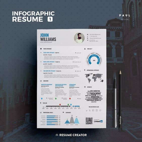 Infographic Resume   Cv Vol 3 by #TheResumeCreator on - infographic resume creator