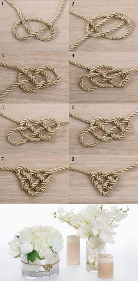 Celtic knot for DIY wedding or event decoration: the Koch Blog. Available at www.koch.com.au - shop 1,000 plus cord and ribbons at wholesale prices.