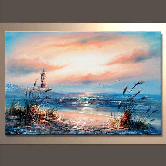 Paisajes marinos para pintar al oleo pintura pinterest for Cuadros de marinas