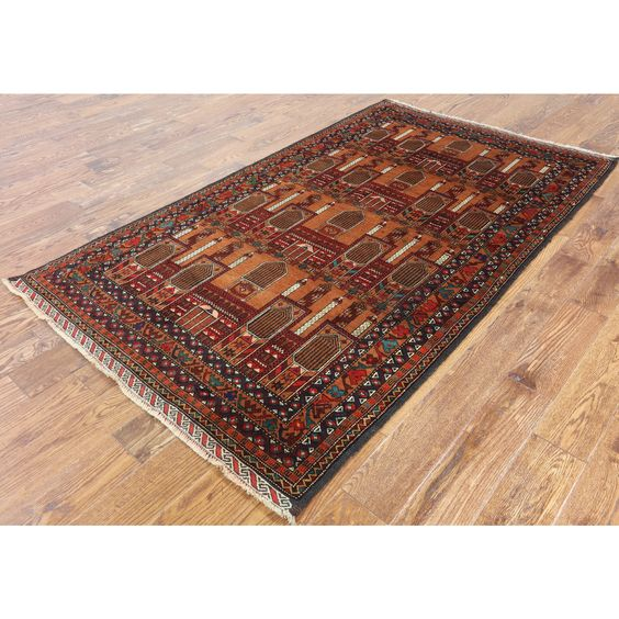 Manhattan Oriental Persian Balouch colored Hand-knotted Rug