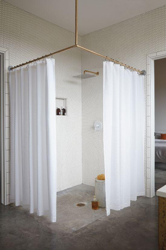 Dwr Honeycomb Shower Curtain Tiny House Bathroom Bathrooms