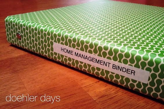home management binder with printable downloads