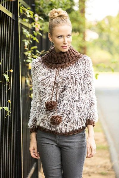 Free Knitting Pattern The On The Prowl Poncho In
