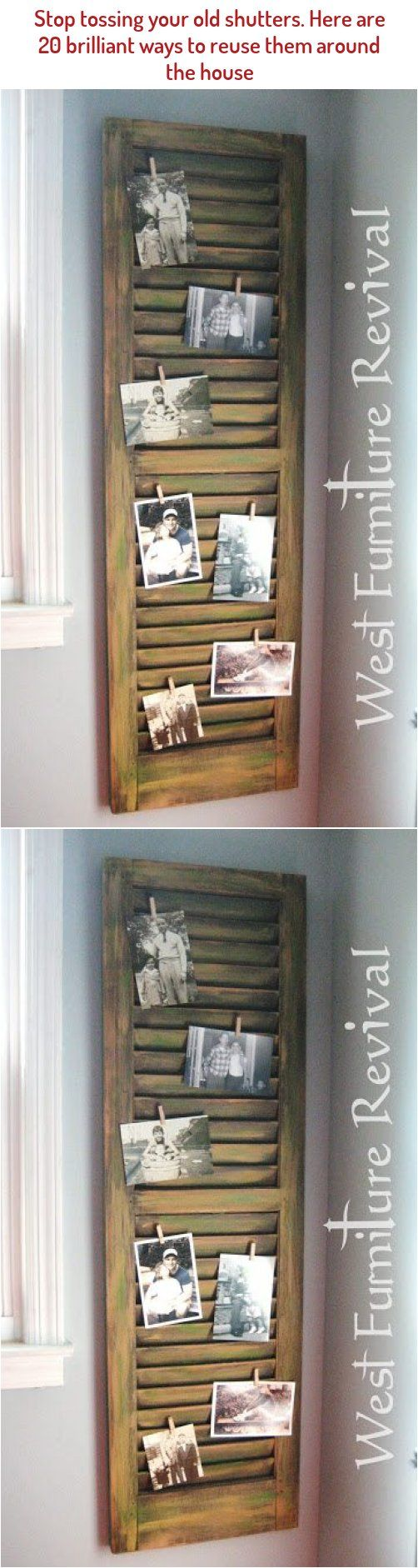 Here Are Some Creative Old Shutter Home Decoration Ideas In 2020 Old Shutters Decor Repurposed Ladders