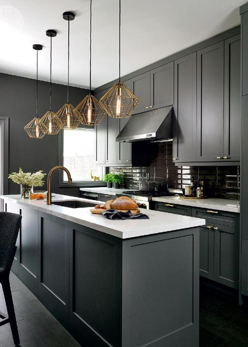 Monochromatic Kitchen Design Ct Monochromatic Kitchen Color Schemes Black Kitchen Cabinets Black Kitchens Kitchen Inspirations