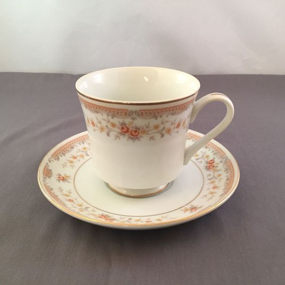 Sone Fine Porcelain China Footed Cup and Saucer Set | eBay
