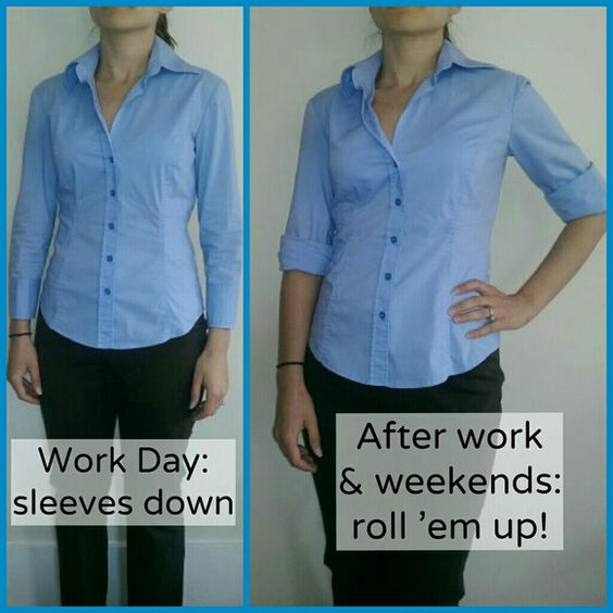 Pale blue fitted button down 3/4 sleeve Fitted & flattering! Won't bunch up!! Lightweight and perfect construction to flatter your figure! Has some stretch to it.   Versatile: Wear it any day of the week to work. Roll up the sleeves after work. Pair with jeans on the weekend!   No top button like typical shirts - has a deeper V-neck.   Color: pale blue. 2 buttons at the sleeve cuffs.   Worn once. Excellent condition!  See the current Sale ad at the top of my closet ⭐ or Make an offer! New…