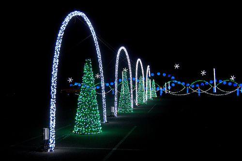 Shadracks Christmas Wonderland Drive thru at the Smokies Stadium in Kodak, TN