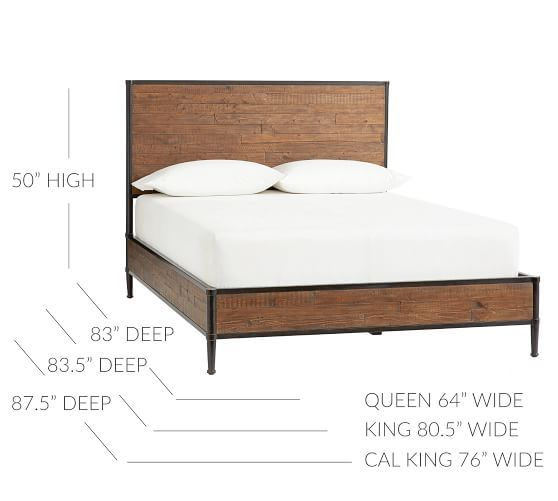 Juno Reclaimed Wood Bed Pottery Barn Reclaimed Wood Beds