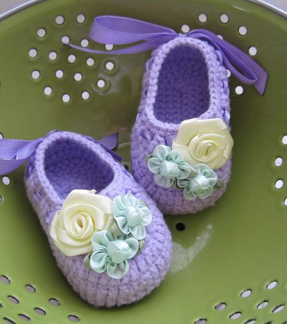 Cinta+floral+Crochet+bebé+botines++4+tamaños++listo+por+MyMayaMade,+$24.99