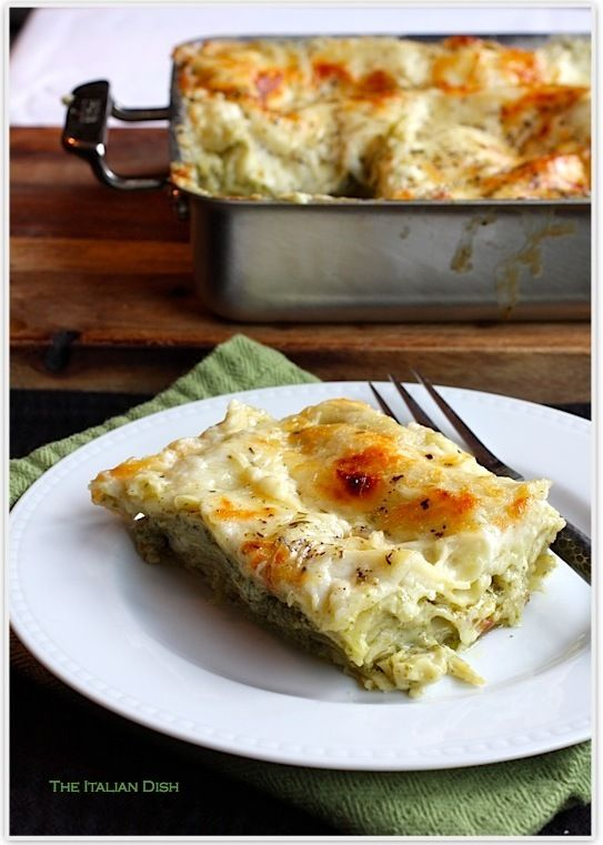 """Pesto Lasagna - Best recipe I've made from Pinterest!! Everyone loved it, there were absolutely no left overs! """"Next time make a bigger one"""" haha"""