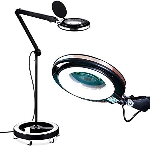 Brightech Lightview Pro Led Magnifying Floor Lamp Glass Floor Lamp Magnifying Desk Lamp Floor Lamp