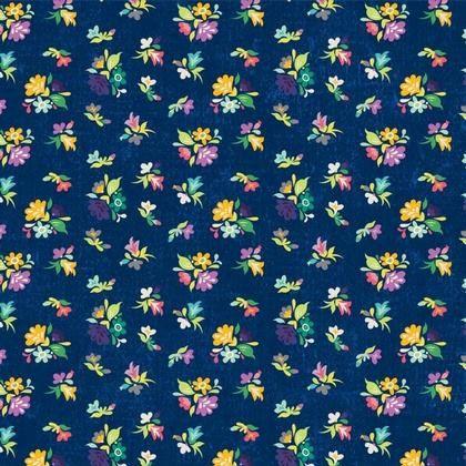 Gigi Clusters Navy Adornit  Cotton by WindyRobinCotton on Etsy