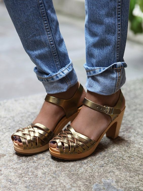 Swedish Hasbeens Dalsland Clog at Free People Clothing Boutique