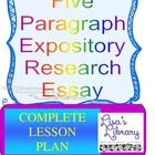 Complete Common Core Writing & Research Materials for Teaching Five-Paragraph Expository Research Essay, cross-curriculum with Science.   GOAL: This Research Paper plan was written for my 7th Grade English class in connection with their Mammal Unit in Science. Once completed, students visually presented the information in Science class.