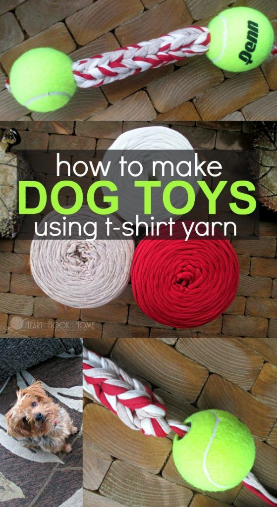 Free Dog Toy Crochet Pattern Using T Shirt Yarn Dog Toys Diy