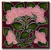 Reproduction Art Nouveau Tile V1A