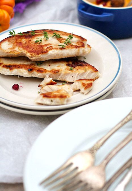 Turkey Cutlets for small holiday gatherings or for any time at all! FamilyFreshCooking.com