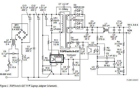 Laptop Power Supply Adaptor Circuit Laptop Power Supply Power Supply Circuit