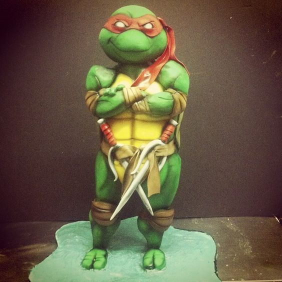 Awesome 2ft tall Raphael cake by @dinasaurclub over at Alliance Bakery.