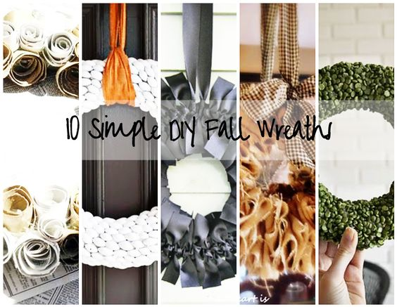 10 Simple DIY Fall Wreaths that Look Amazing. Pet peeve: cluttered, crazy wreaths #DIY #Tutorial: 10 Diy, 10 Fall, Diy Crafts, Diy Wreaths, Simple Diy, Fall Wreaths, 10 Simple, Diy Fall, Wreaths Holiday