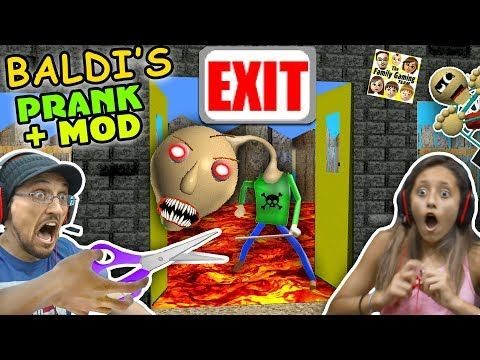 Baldi S Basics No Exit Escape Prank Mod Fgteev Rage Teacher
