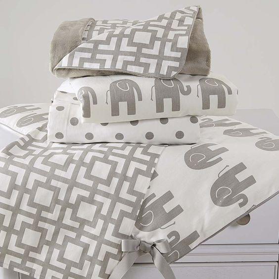 Elephant March 5 pc crib bedding set by Bassett Furniture | Bassett ...