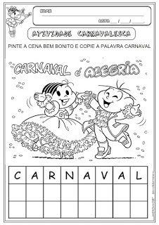 Atividades Carnaval Em 2020 Atividades De Carnaval Atividades