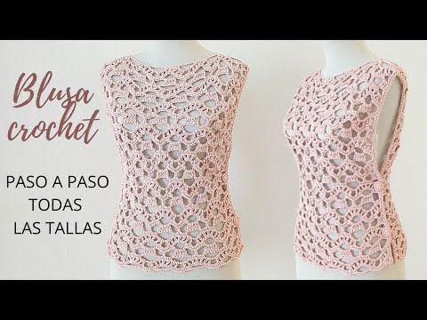 Cómo Tejer Blusa A Crochet Paso A Paso En Todas Las Tallas Youtube En 2020 Vestido De Niña Tejido A Ganchillo Blusas De Crochet Croche Paso A Paso