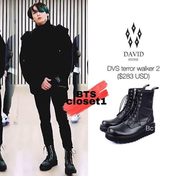 "Style Of Bts on Instagram: ""Nothing can stop jungkook from wearing huge boots • • •  Tags : #kimnamjoon #kimseokjin #minyoongi #junghoseok #parkjimin #kimtaehyung…"""