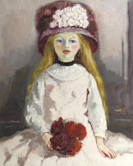 Kees van Dongen「Jeune fille au chapeau fleuri」