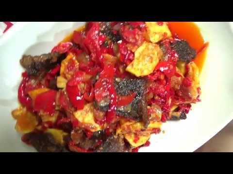 Resep Masakan Padang Dendeng Batokok Balado Youtube Kip Recepten