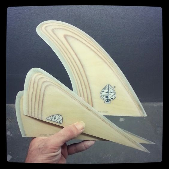 Bonzer 3 plywood set for glass on fins. By neyrafins@gmail.con