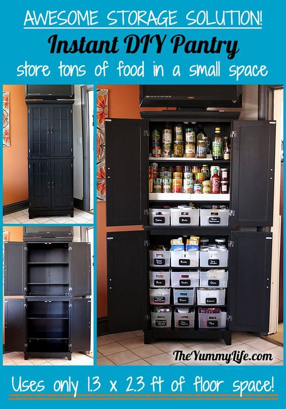 Instant Kitchen Cabinets : Instant diy pantry cabinet an easy kitchen storage