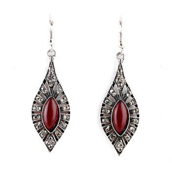 Waterdrop earrings trully compliment my face shape. I love the deep red with the silver.